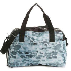 NWT Vince Camuto Black Blue Tie-Die Gym Duffle Bag